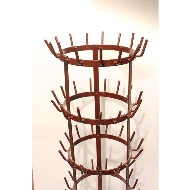 Antique French large metal wine bottle rack