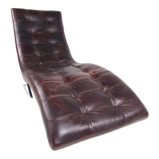 Modern Leather Longue Chair For Sale