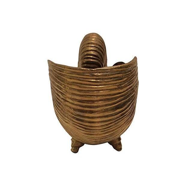 Vintage Brass Seashell - Image 3 of 4