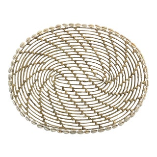 Wicker & Cowry Shell Placemat For Sale