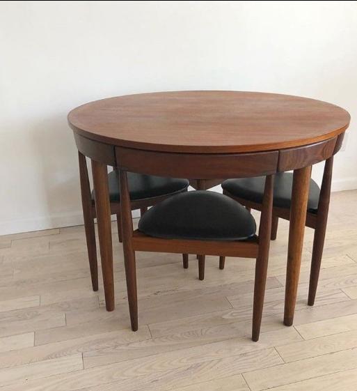 Attractive 1960s 1960s Danish Modern Hans Olsen For Frem Rojle Teak Dining Set   5  Pieces For