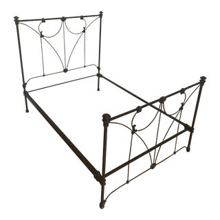 Antique Black Iron Double Bed Frame