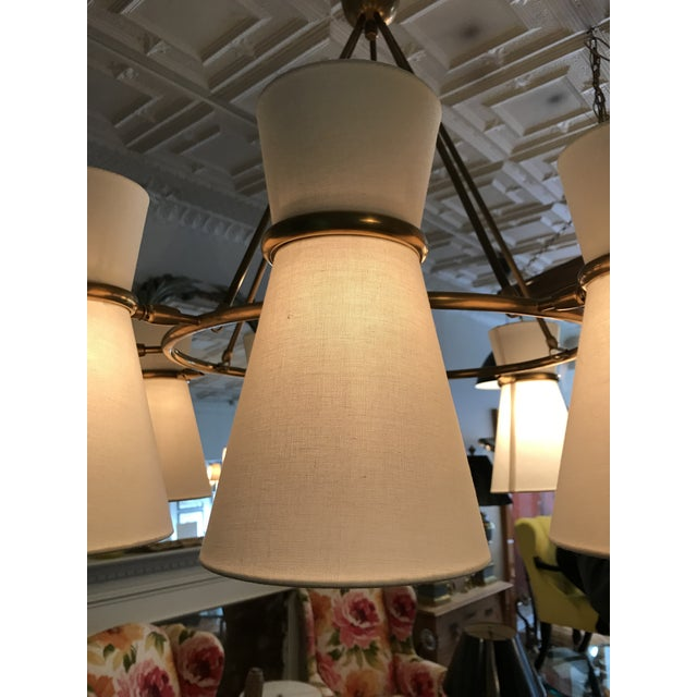2010s Visual Comfort Aerin Clarkson Brass Chandelier For Sale - Image 5 of 7