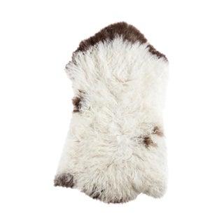 """Contemporary Handmade Wool Sheepskin Pelt - 2'0""""x3'10"""""""