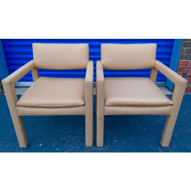 Milo Baughman & Thayer Coggin Parsons Arm Chairs - A Pair - Image 2 of 10