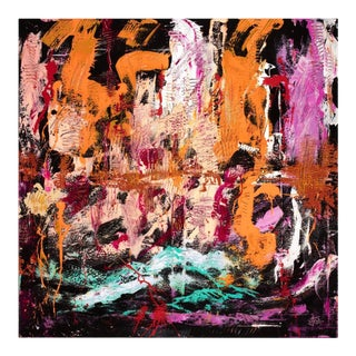 """""""Introspection 1"""" Contemporary Abstract Mixed-Media Painting For Sale"""
