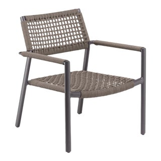 Outdoor Club Chair, Carbon and Mocha For Sale