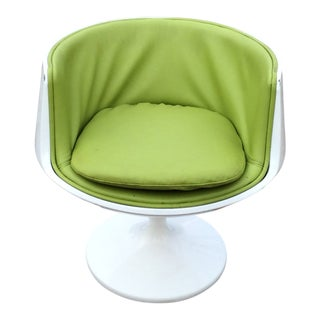 Late 20th Century Vintage Eero Aarnio Finland Green Leather Cognac Chair For Sale