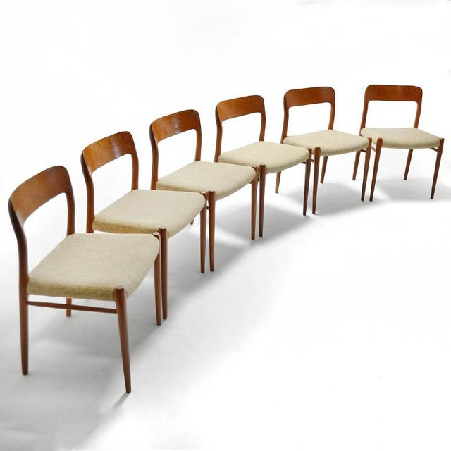 Niels O. Møller Set of Six Model 75 Chairs For Sale - Image 9 of 9