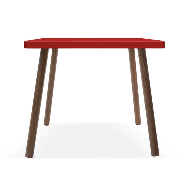 """Tippy Toe Square 30"""" Large Walnut Kids Table. Our Tippy Toe table has a sleek modern look and provides plenty play space..."""