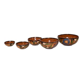Mexican Pottery Nesting Bowls - Set of 5