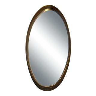 La Barge Mid-Century Modern Oval Mirror For Sale