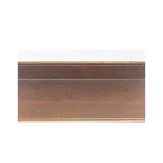 Lawrence & Scott Mahogany Regalia Leather Box For Sale