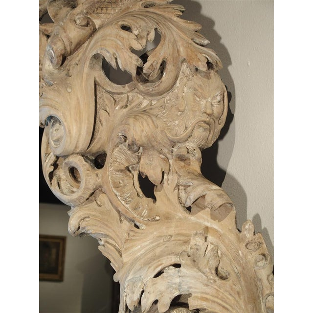 Glass Monumental 19th Century Baroque Mirror from Italy For Sale - Image 7 of 11