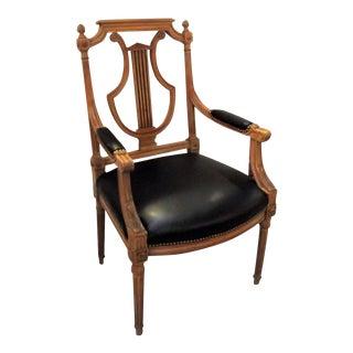 Louis XVI Lyre Motif Desk Chair