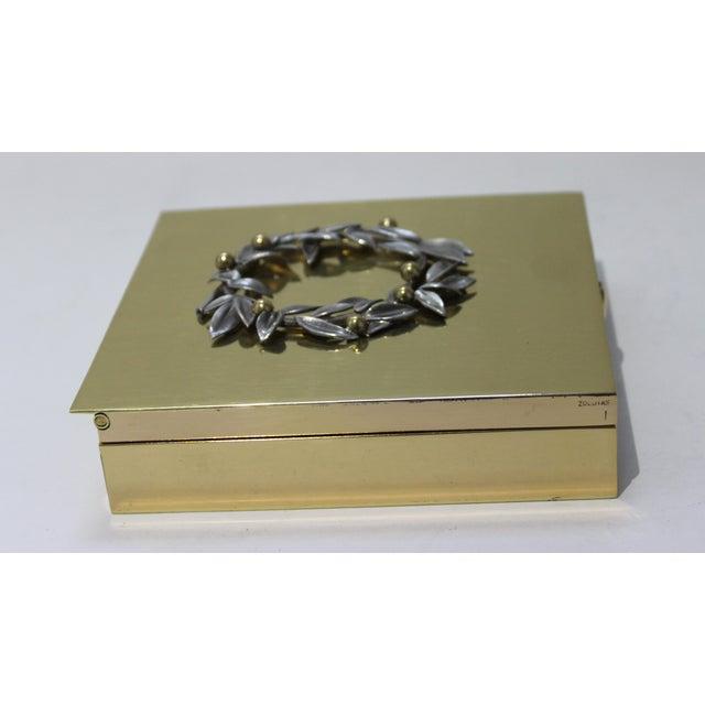 Vintage Vassilis Zoulias. Brass Box For Sale - Image 9 of 13