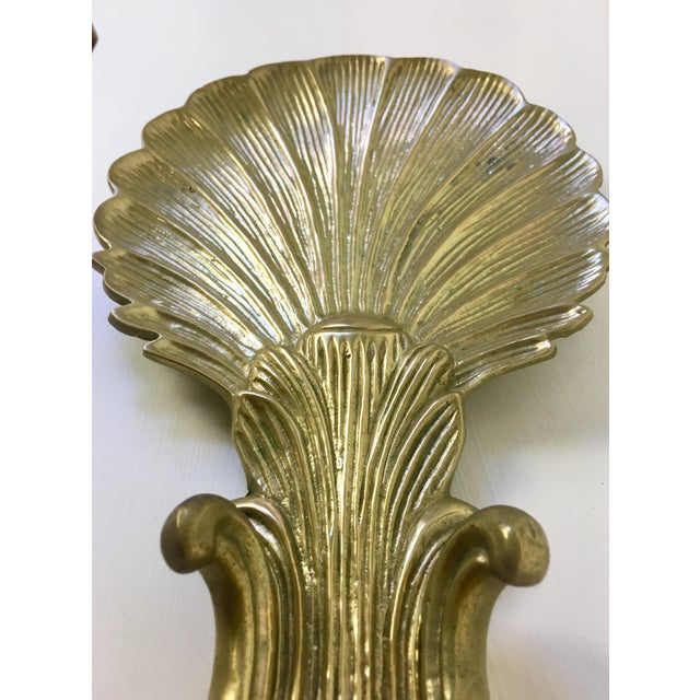 Brass Shell Candle Wall Sconce For Sale - Image 4 of 7