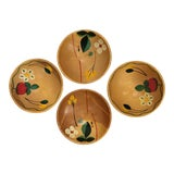 Image of Mid-Century Wooden Snack Bowls - Set of 4 For Sale