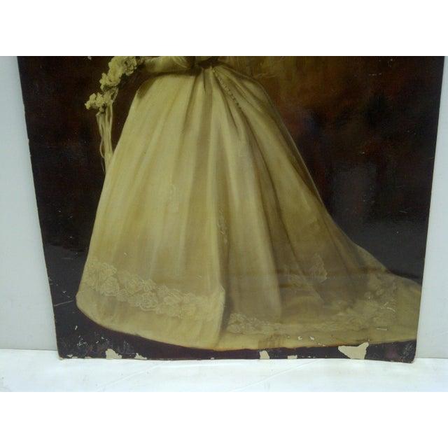 "Vintage Color Photograph - ""Beautiful Wedding Dress"" - Circa 1960 For Sale - Image 4 of 5"