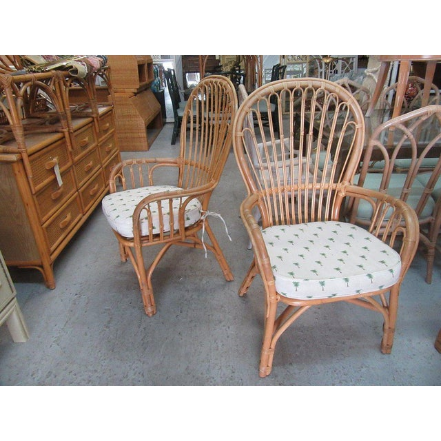 Island Style Rattan Chairs - A Pair - Image 3 of 7