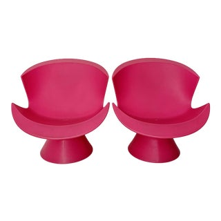 Modern Karim Rashid Pink Kite Lounge Chairs- A Pair For Sale