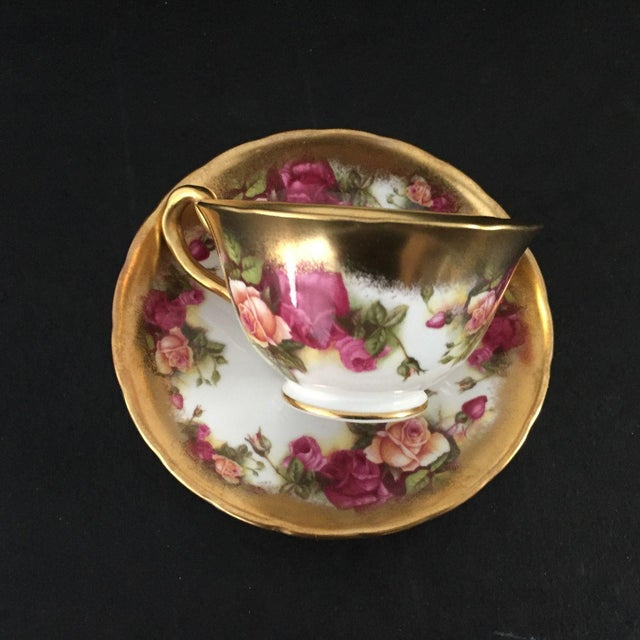 Vintage Royal Chelsea Golden Rose Tea Cup & Saucer - 2 Piece For Sale - Image 4 of 6