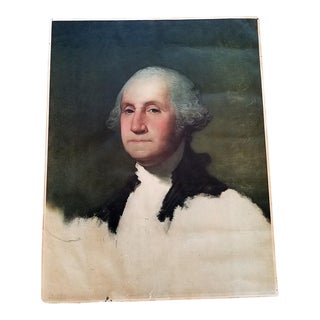 Early 20c George Washington Portrait Bicentennial Litho