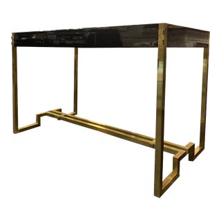 Romeo Rega Black and Cream Writing Desk For Sale