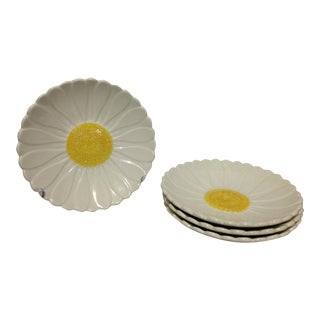 1970s Gien Daisy Side Plates - Set of 4 For Sale