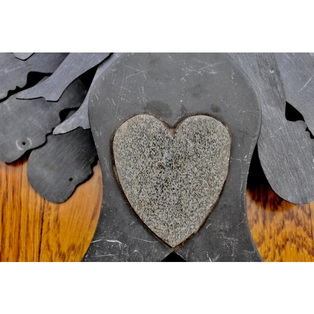 Welsh Slate Love Token with Man in Motion c. 19th - Image 3 of 11