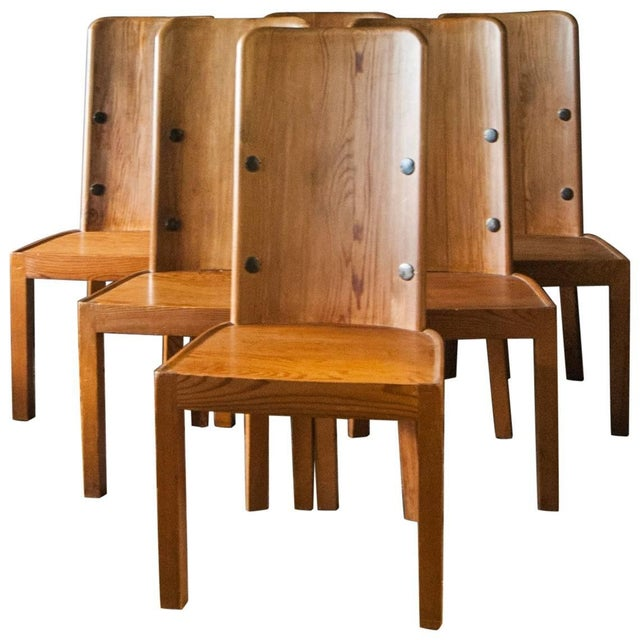 "Metal Set of Six ""Lovo"" Chairs by Axel Einar Hjorth For Sale - Image 7 of 7"