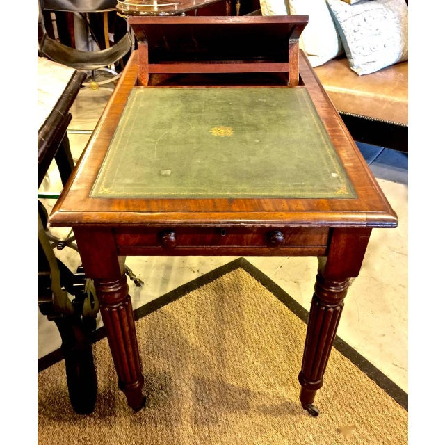 Animal Skin Regency or William IV Writing Table/Desk with Book Stand For Sale - Image 7 of 10