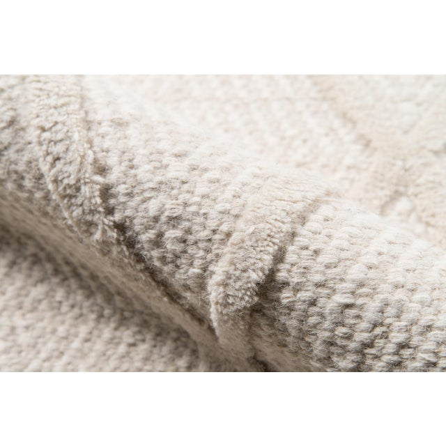 Erin Gates by Momeni Langdon Spring Beige Hand Woven Wool Area Rug - 5′ × 8′ For Sale - Image 4 of 7