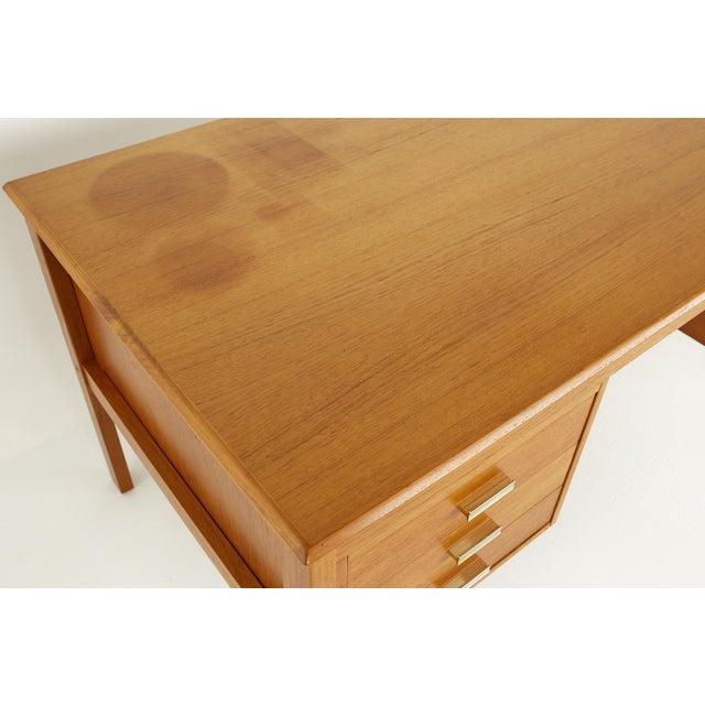 Farso Stolefabrik for Maurice Villency Mid Century Danish Teak Desk For Sale - Image 10 of 13