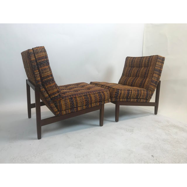 Textile Early Florence Knoll Lounge Slipper Chairs - a Pair For Sale - Image 7 of 12