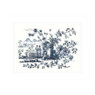 Chinoiserie Antique Archival Illustration II For Sale