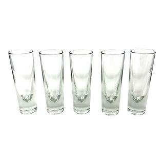 "Set of Five Italian ""Bullet"" Glasses for Gump's, San Francisco For Sale"