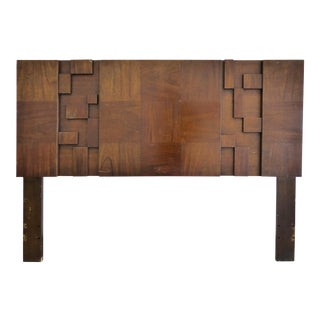 Lane Brutalist Mosaic Block Full Size Headboard For Sale