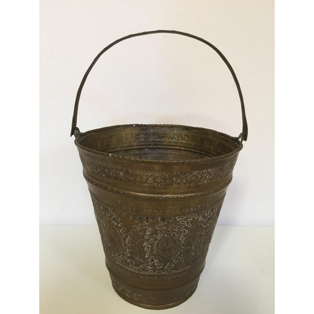 Anglo-Raj Mughal Bronzed Copper Vessel Bucket For Sale - Image 10 of 12