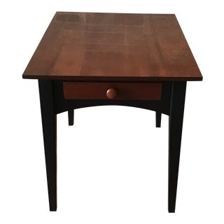 Ethan Allen American Impressions Cherry 2 Tone Side Table With Drawer For Sale