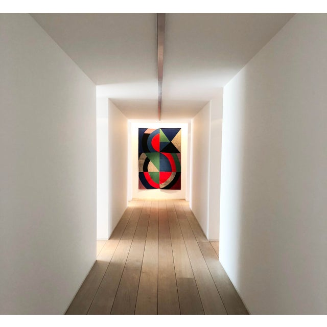 """Hand-Signed Modern Tapestry by Sonia Delaunay - """"Grande Icône"""" For Sale - Image 6 of 7"""