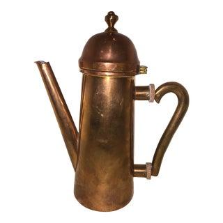 Vintage Mid-Century Copper Tea Kettle For Sale