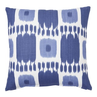Schumacher Kandira Pillow in Blues For Sale