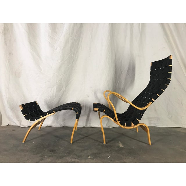 Very nice Pernilla example. At one point this chair was outfitted with a custom suede slip cover that did leave the black...