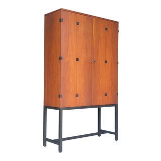 1960's Milo Baughman Walnut Cabinet for Directional For Sale