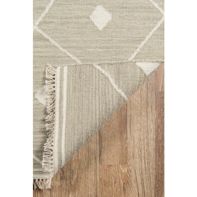 "2010s Erin Gates by Momeni Thompson Appleton Sage Hand Woven Wool Area Rug - 5' X 7'6"" For Sale - Image 5 of 6"