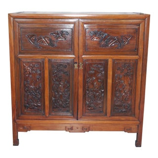 20th Century Qing Style Hand Crafted Hardwood Cabinet For Sale