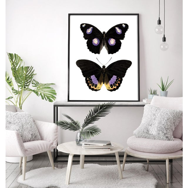 Art Deco Carnaby Butterflies in Purple and Yellow Art For Sale - Image 3 of 6