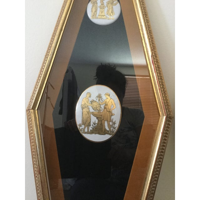 Black Mid Century Grecian Shadowbox by Andrew Kolb and Son Ltd - a Pair For Sale - Image 8 of 13