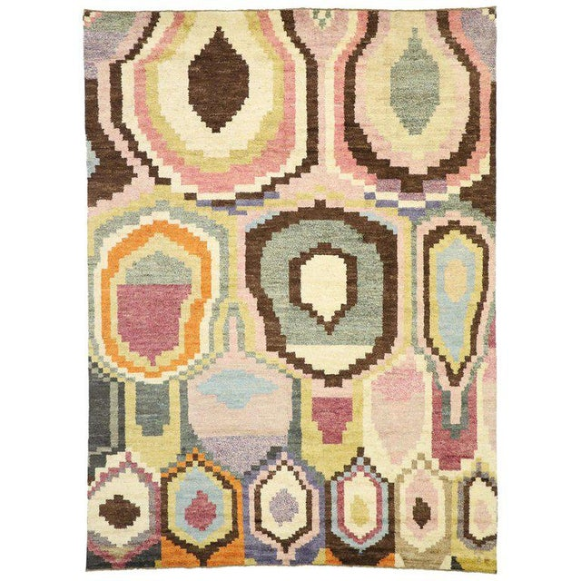 New Contemporary Moroccan Postmodern Style Rug - 10′3″ × 13′11″ For Sale - Image 9 of 9